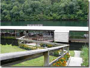 Ozark Trout Resort Fishing Dock